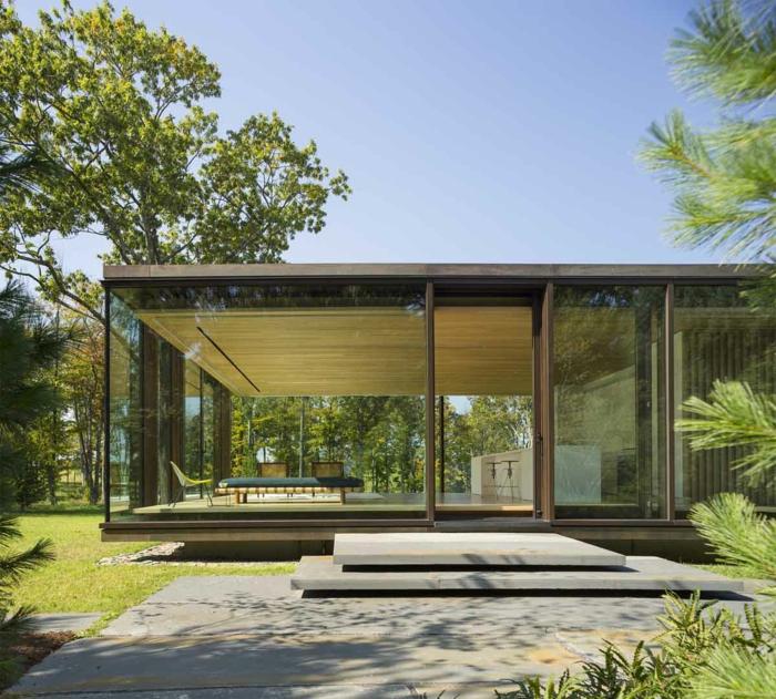 modernes haus bauen glaswände moderne architektur