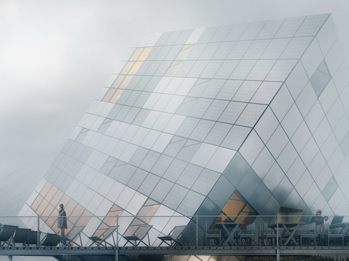 nullenergiehaus kubus glas würfelhaus