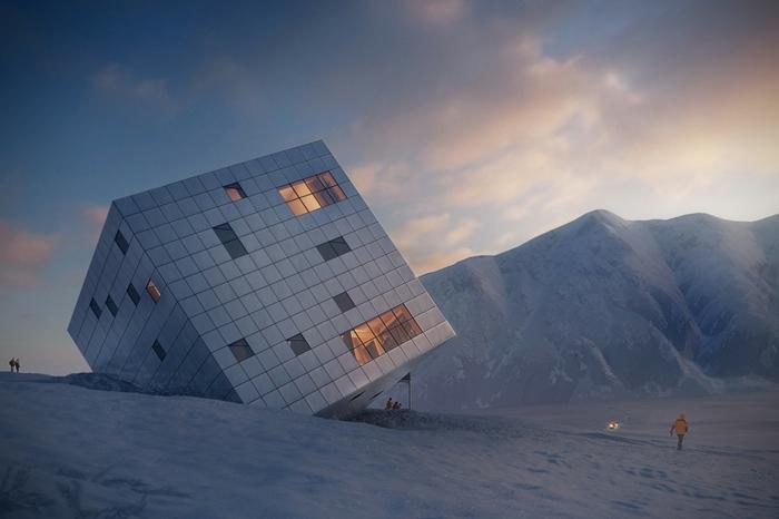 nullenergiehaus qubistisch würfelhaus moderne architektur