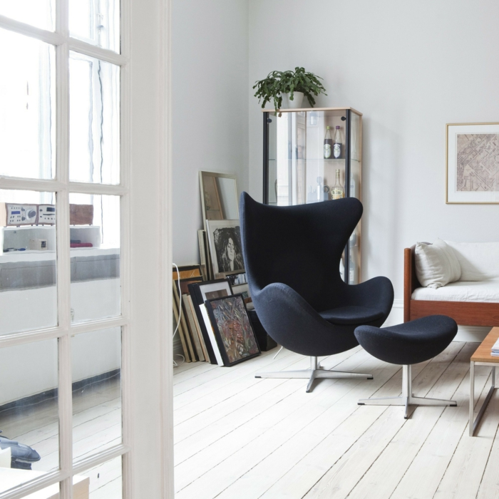 ohrensessel egg chair arne jacobsen