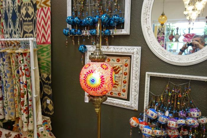 orientalische lampen runde leuchte buntes glas mosaik