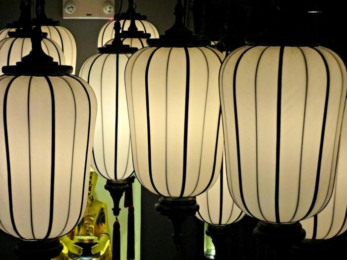 orientalische lampen thai design gewölbt ovale formen