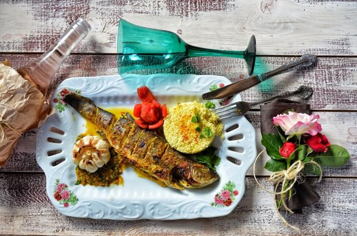 orientalische rezepte fisch kuskus knoblauch