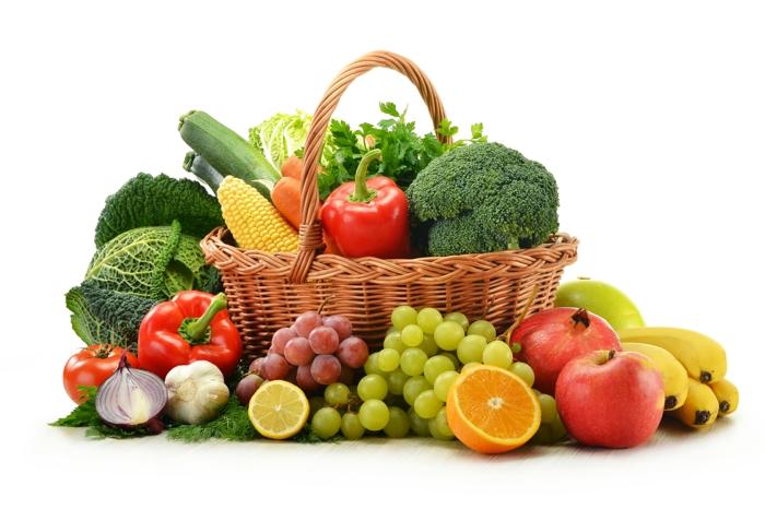 oxidativer stress gesunde nahrung frisches obst gemüse