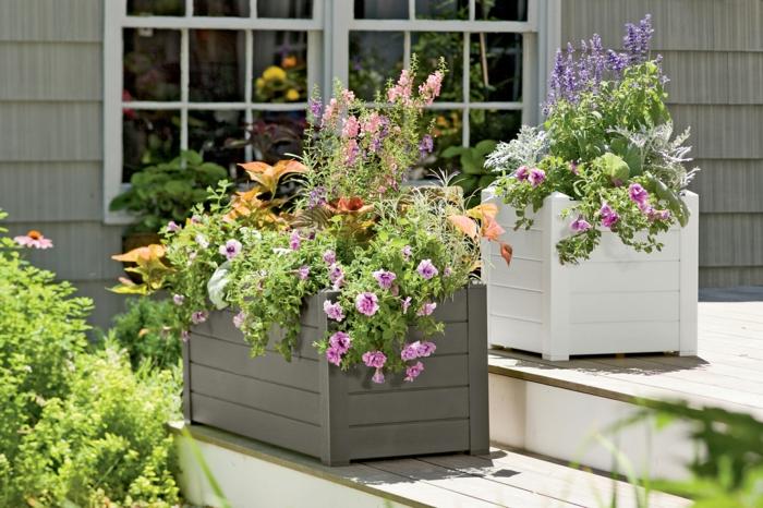 pflanzgefäße außenbereich gestalten treppen pflanzen