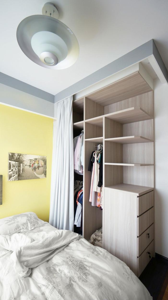 raumtrenner kleiderschrank absondern schlafzimmer einrichten