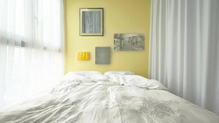 raumtrenner kleine wohnung funktional gestalten gardinen benutzen