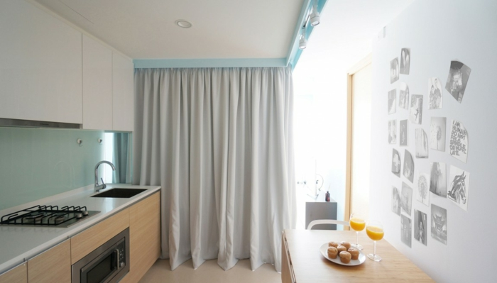 raumtrenner vorhang wohnzimmer umwandeln gardinen gästezimmer