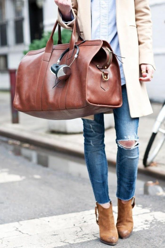 reisetasche leder stilvoll unterwegs reisen und urlaub accessoires