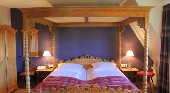 romantik hotels schlafzimmre betthimmel