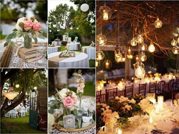 romantische dekorationsideen hochzeit rosen tischdeko