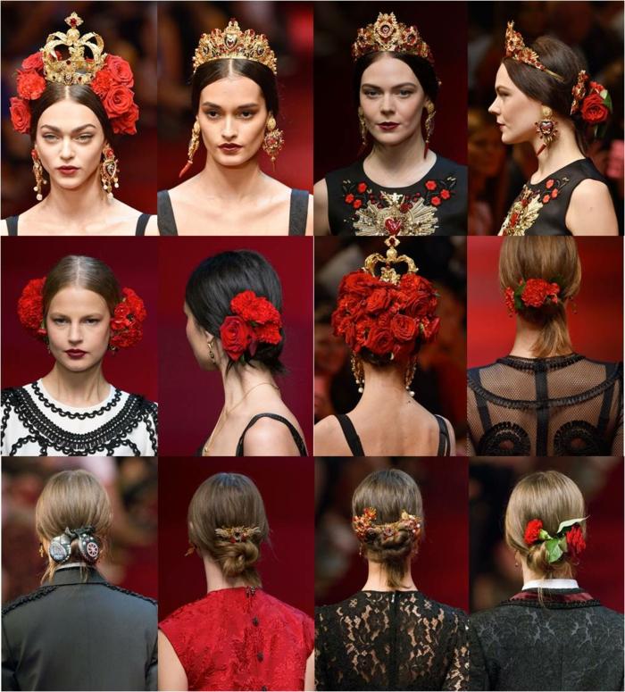 rote rosen designer kollektion damenmode dolce gabbana