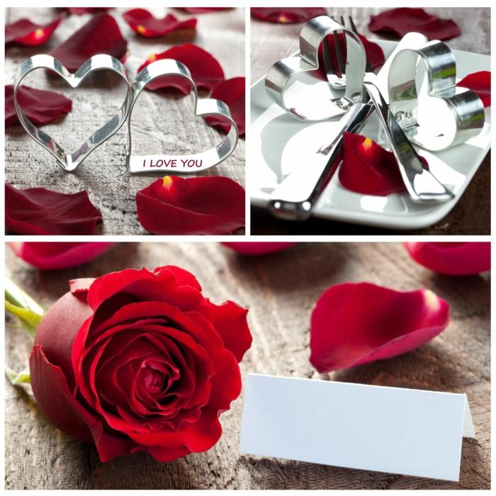 rote rosen tischdekoration hochzeitstag feier
