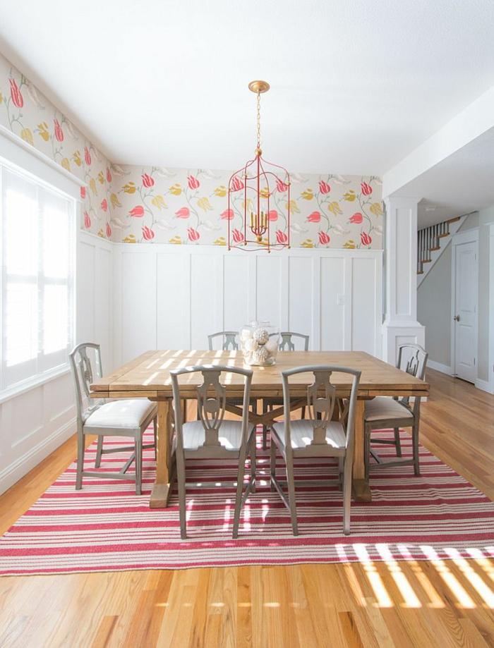 rustikale möbel esszimmer esstisch holz ausziehbar teppichboden