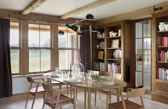 rustikale möbel esszimmer esstisch holz stühle modern