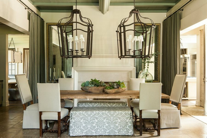rustikale möbel esszimmer gestalten esstisch holz kolonialstil