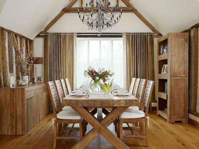Rustikale Möbel Esszimmer Gestalten Esstisch Holz Massiv Stühle