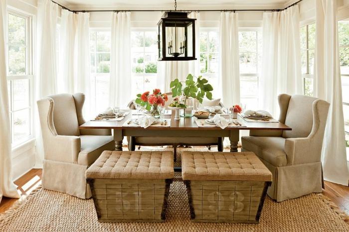 rustikale möbel esszimmer gestalten esstisch holz