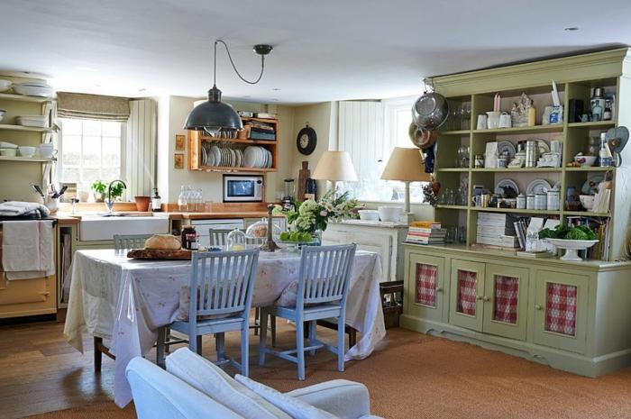 möbel esszimmer küche gestalten küchenanrichte retro stil