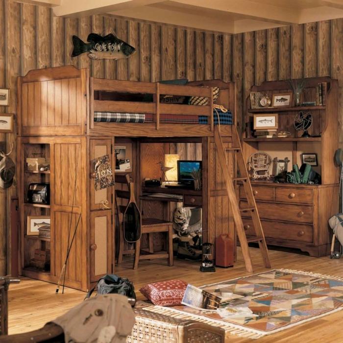 rustikale mobel mabel hochbett arbeitszimmre schlafzimmer bauen
