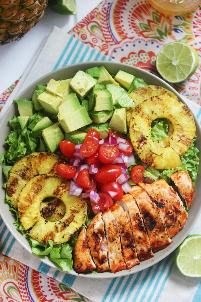 salate zum abnehmen leckere salatrezepte ananas fleisch