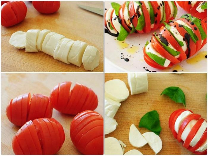 salate zum abnehmen salatrezepte mozzarella thomaten