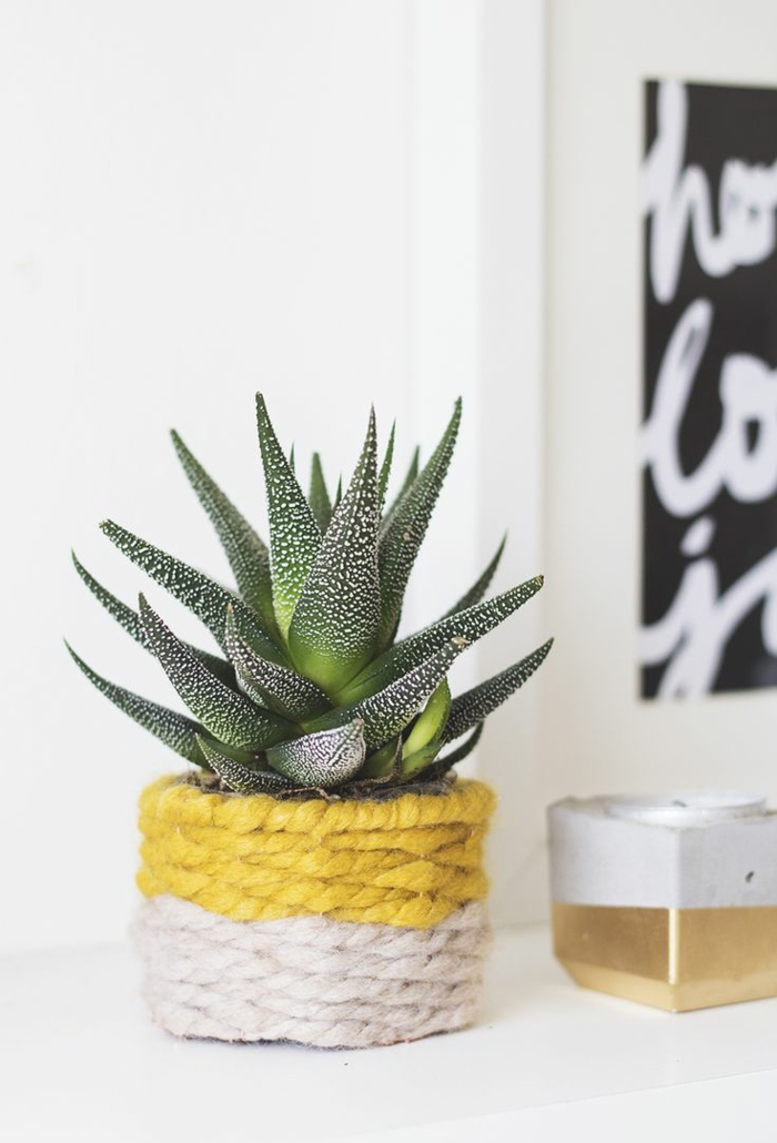 schöne dekoideen ananas blumentopf basteln