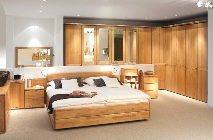 schlafzimmermöbel einbauleuchten eckkleiderschrank spiegel