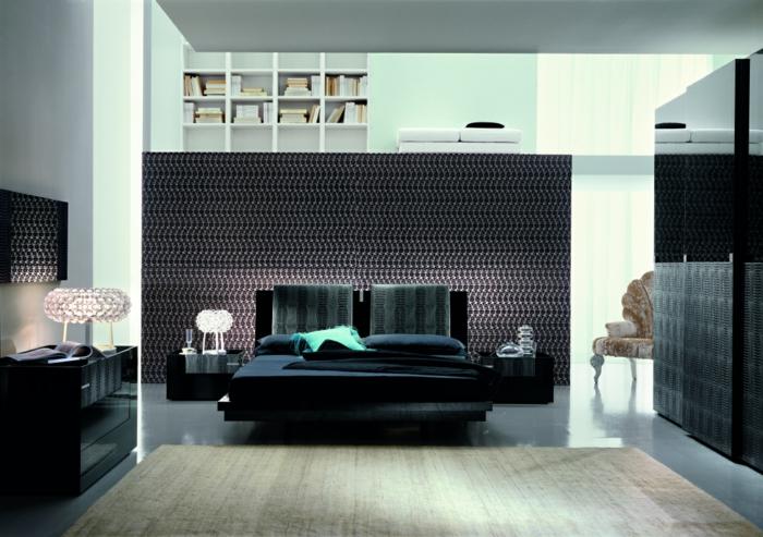 schlafzimmermöbel männlicher look glanzoberflächen