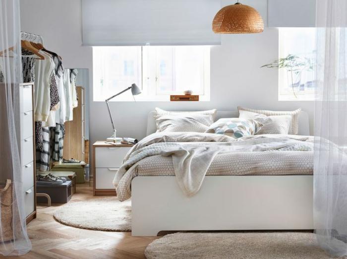 schlafzimmermöbel runde teppiche kleines schlafzimmer