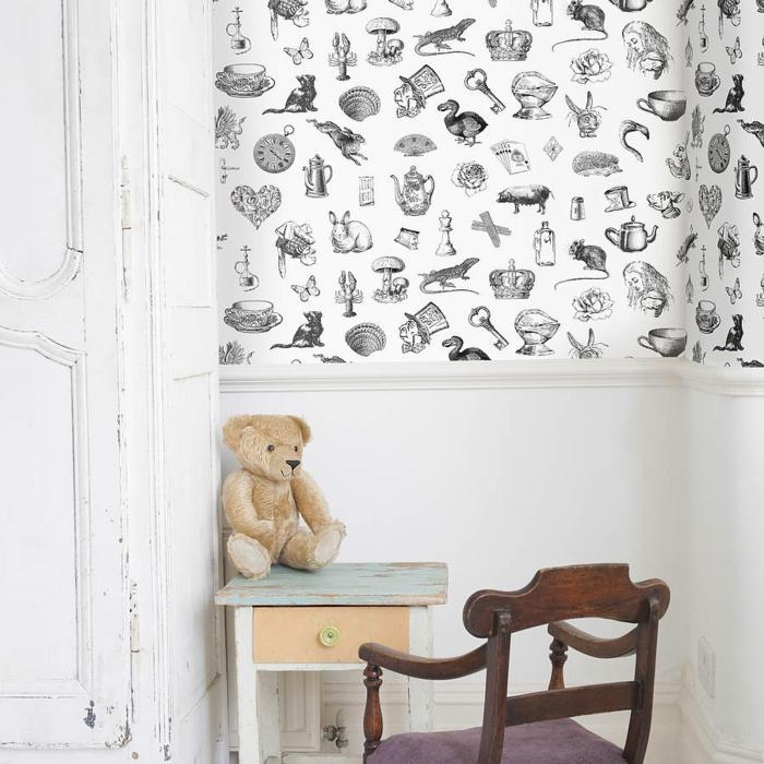 selbstklebende tapete die trendige wanddekoration mit stil. Black Bedroom Furniture Sets. Home Design Ideas