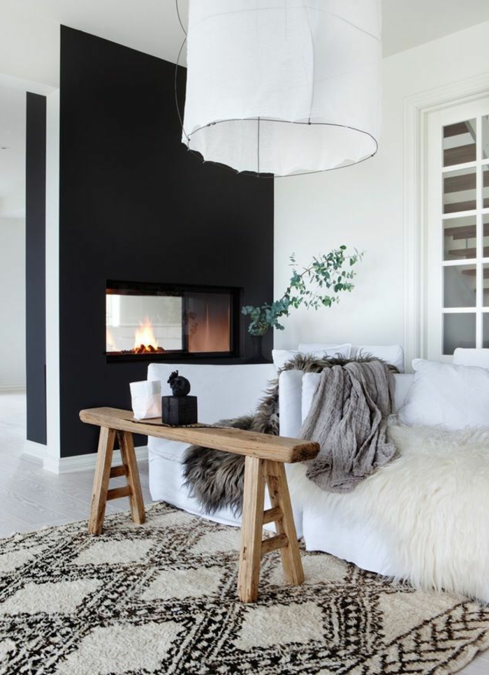 wohnzimmer skandinavisch einrichten. Black Bedroom Furniture Sets. Home Design Ideas