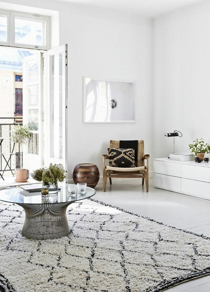 Skandinavisch Einrichten Skandinavischer Teppich Wohnzimmer