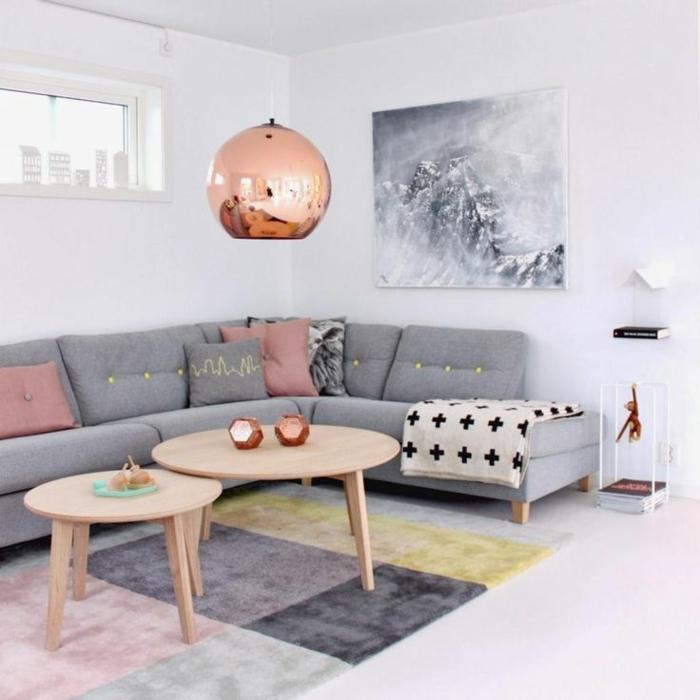 skandinavische teppiche wohnzimmer einrichten schöne pastellnuancen