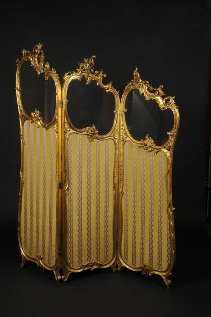 paravent golden barock ornamente