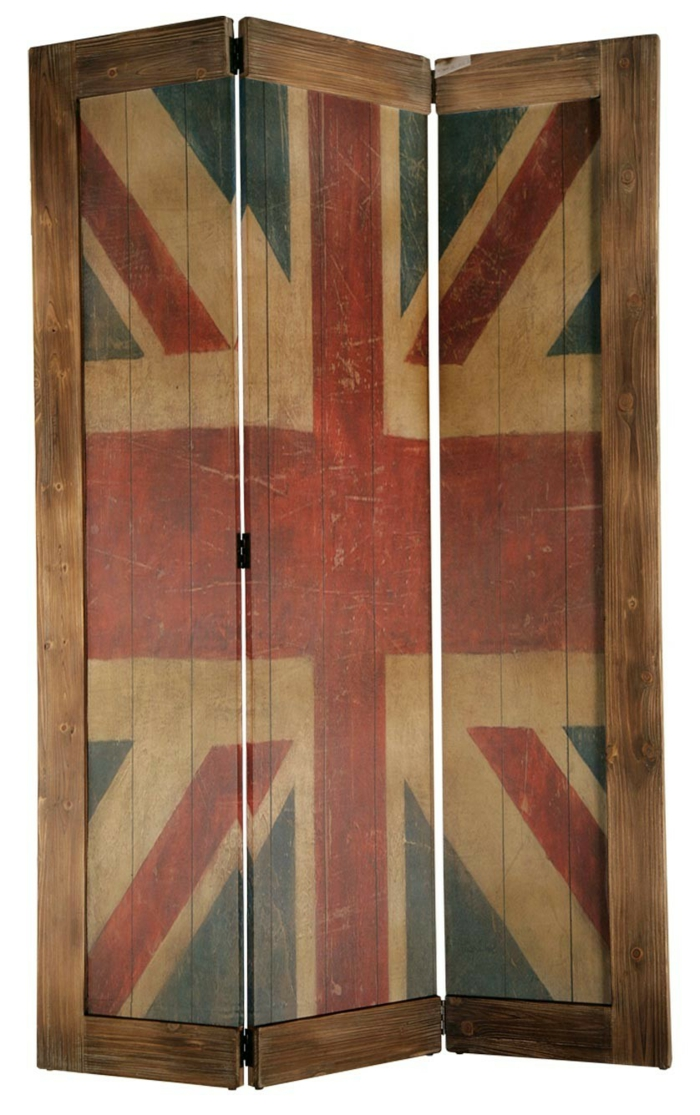 paravent union jack motiv