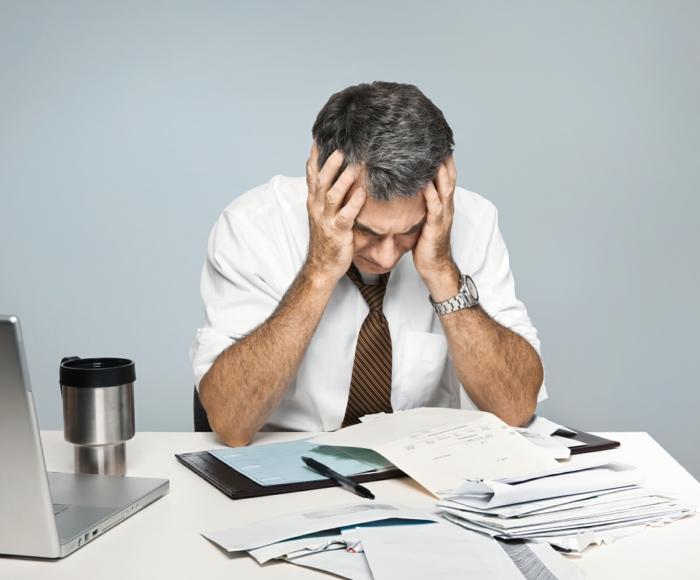 symptome bei stress arbeit hektisches leben