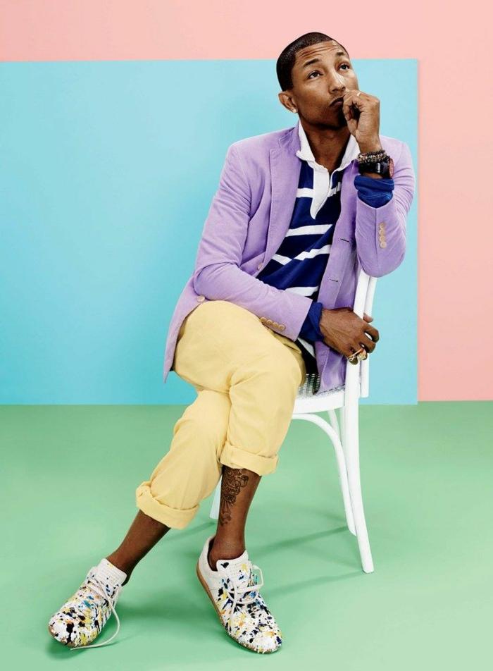 styling tipps männer Pharrell Williams foto shooting