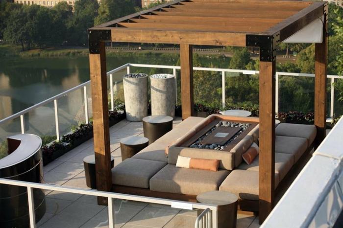 terrassengestaltung ausgefallener look coole außenmöbel