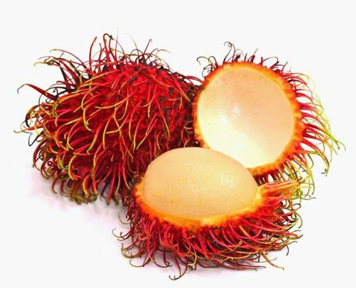 tropische früchte exotisch rambutan