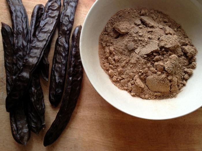vegane schokolade rezepte produkte Johannisbrotbaummehl
