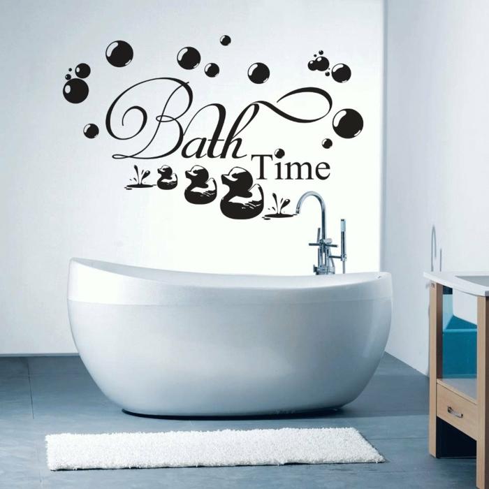 wandtattoos badezimmer lustige wandddeko wände gestaltung
