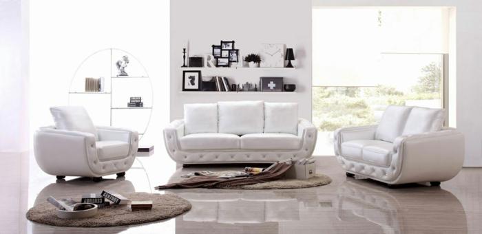 weiße wohnzimmrrmöbel sofa sessel teppiche