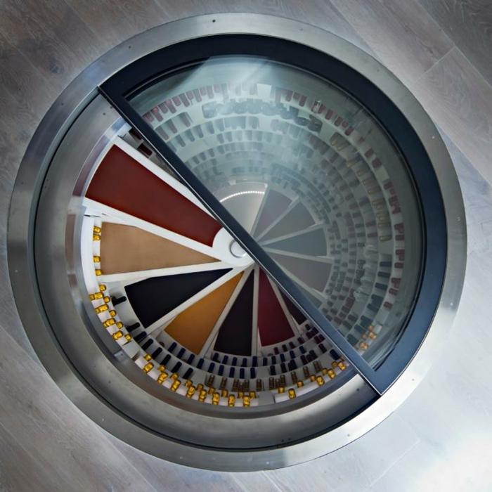 weinlagerung spiral design weinkeller