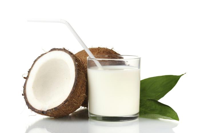 gesund essen kokosmilch trinken trockene haut