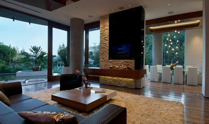 wohnen im luxus vermögen von Bill Gates haus wohnzimmer