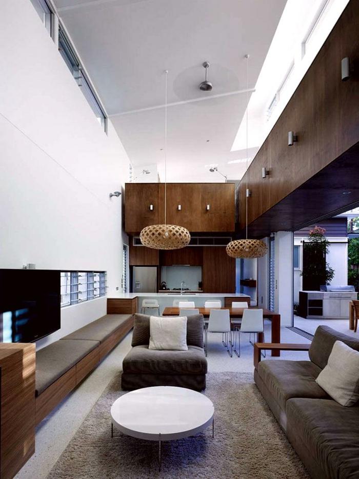 wohnzimmer naturfarben:wohnzimmer einrichtung elegant schick runder couchtisch weiß