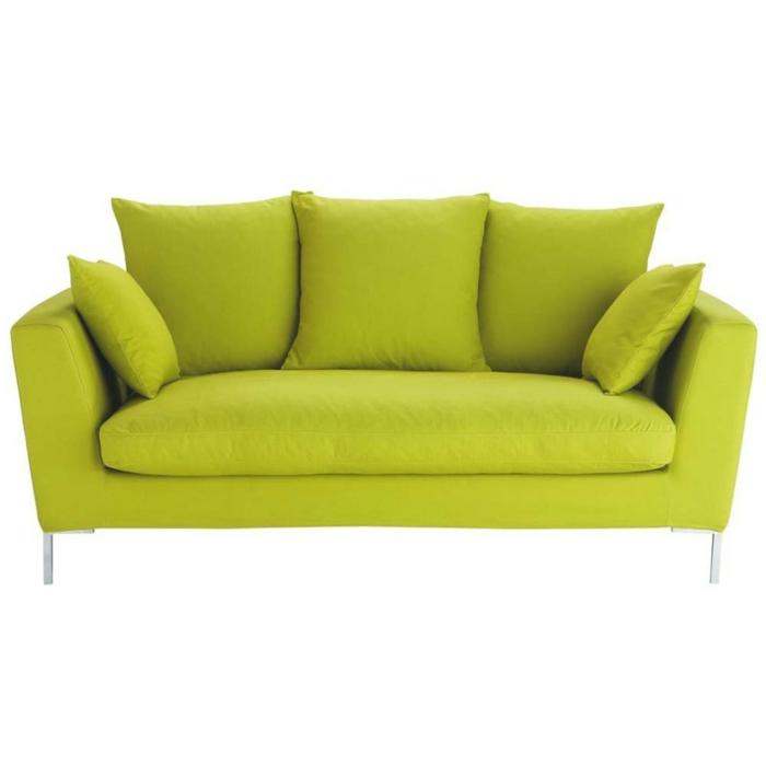 wohnzimmereinrichtung herrliches grünes sofa