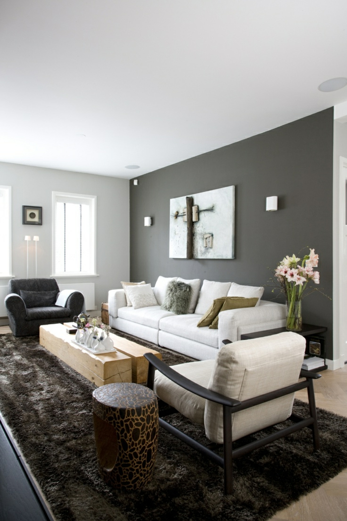wohnzimmereinrichtung ideen coole möbel rustikaler couchtisch beistelltisch