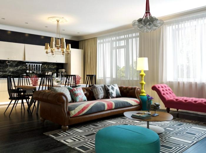 wohnzimmereinrichtung ideen coole wohnzimmermöbel teppich